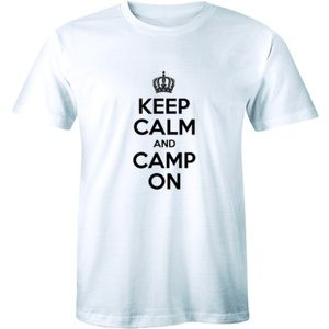 Keep on And Camp On - Camping Outdoors T-shirt Tee